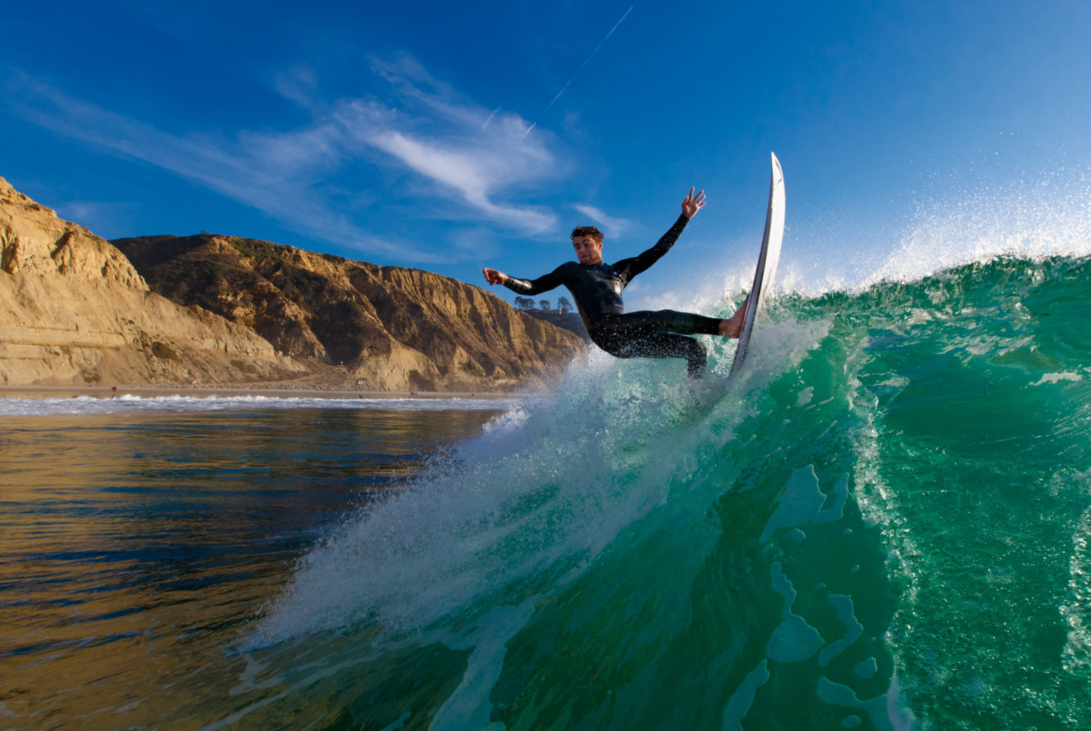 Water photo of surfing at Black's Beach in San Diego, California. Photo: Mark Johnson/Ironstring